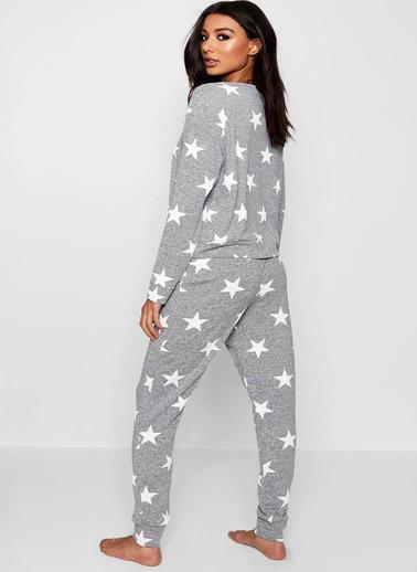 Merry See  Penye Yıldızlı Eşofman Pijama Takım Renkli